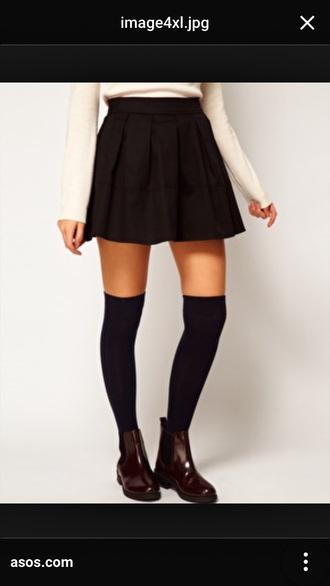 skirt skater skirt 5sosfam black skirt