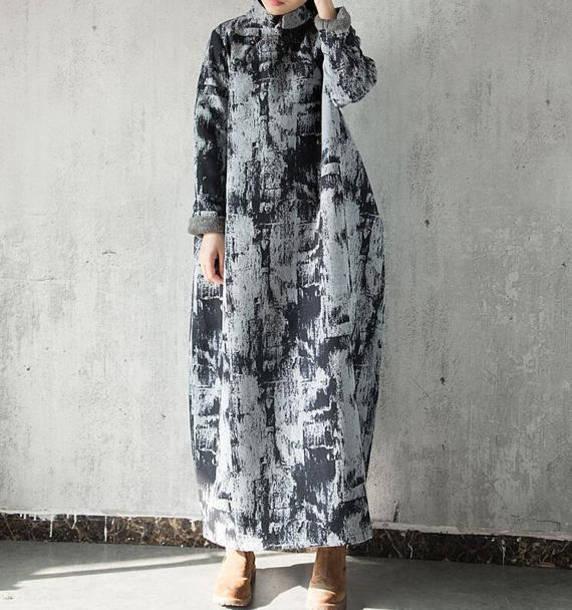 dress plus velvet long robe maxi dress