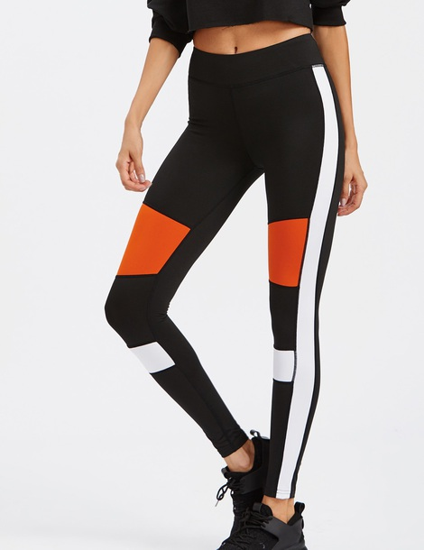 leggings girly black workout workout leggings high waisted yoga pants tights white orange