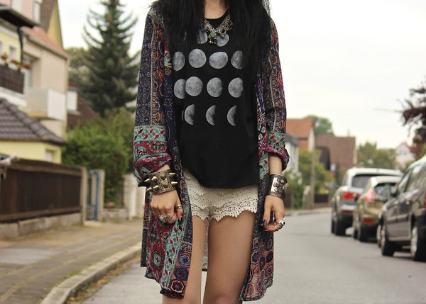 t-shirt moon phases moon goth goth grunge wicca tank top blouse jewels shorts