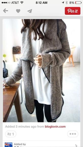 cardigan leather oversized cardigan