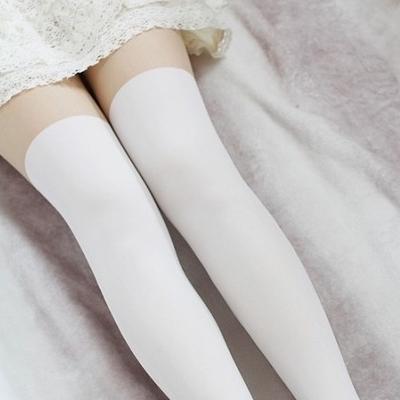 False white high tight stockings · nekori · asia style!