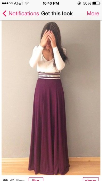 skirt chic cute shirt maroon maxi beaded boho burgundy long maxi skirt