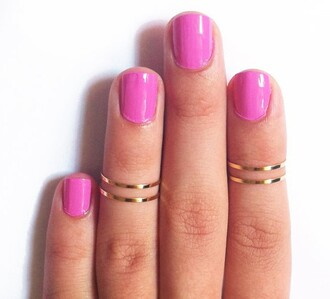 jewels fashion women jewelry copper ring joint silver gold pink nails accessories knuckle ring