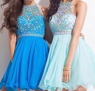dress sky blue baby blue dark blue light blue blue summer prom prom dress bracelets blue dress