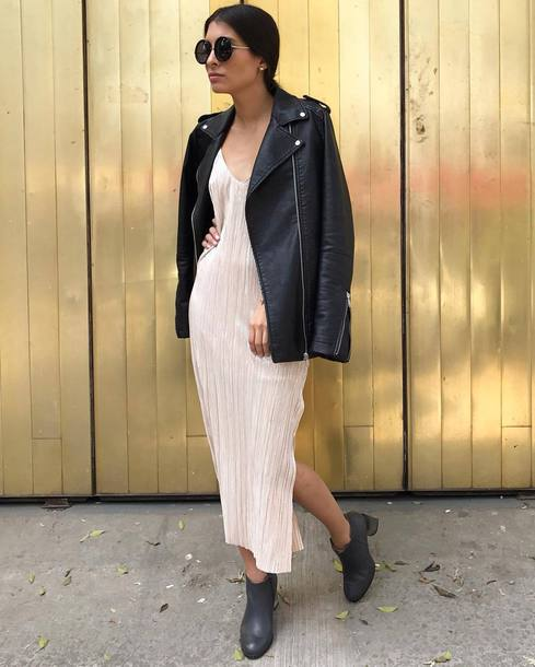 slip dress with boots