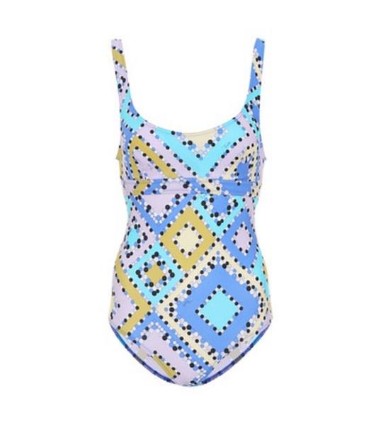 Emilio Pucci Beach Printed swimsuit in blue