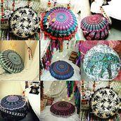 home accessory,multimatecollection,bohemian,hippie,round pillow,sofa pillows,bedroom pillows,indian pillow,mandala wall hanging,cheap pillow,home decor