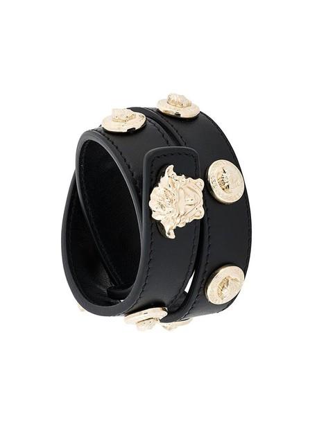 metal women leather black jewels