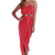 Coral Longer Lengths Dress - Empire Maxi: Coral | UsTrendy