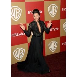 Eva longoria sex black formal dress at the 70th annual golden globe awards red carpet