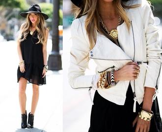 jacket leather jacket white jacket
