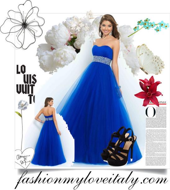 dress strapless strapless dress evening dress long dress blue dress beaded long dress
