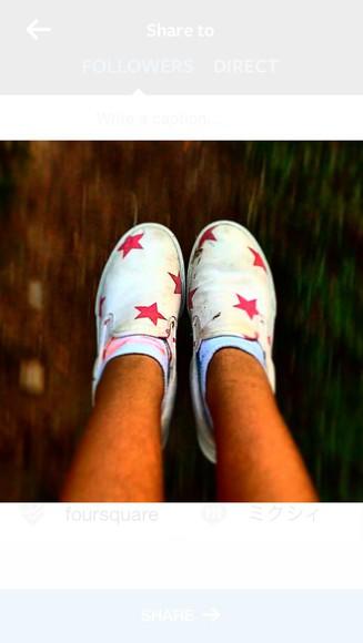 stars vans pink