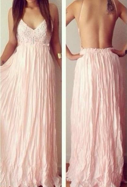 dress women summer dress long prom dress prom dress backless prom dress beach dress white dress party dress