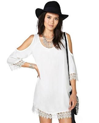 Festival chic long sleeve lace dress