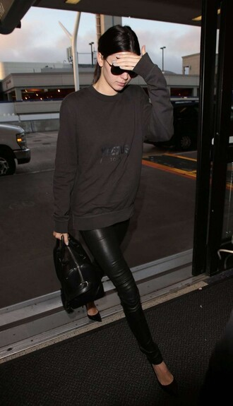 sweater sweatshirt pants pumps kendall jenner