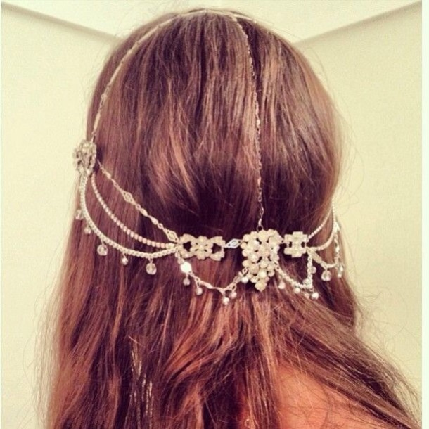 jewels headband head jewels wedding prom hipster wedding
