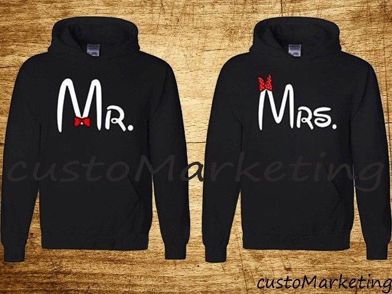 Couple love cartoon character hooded sweatshirt set super couple