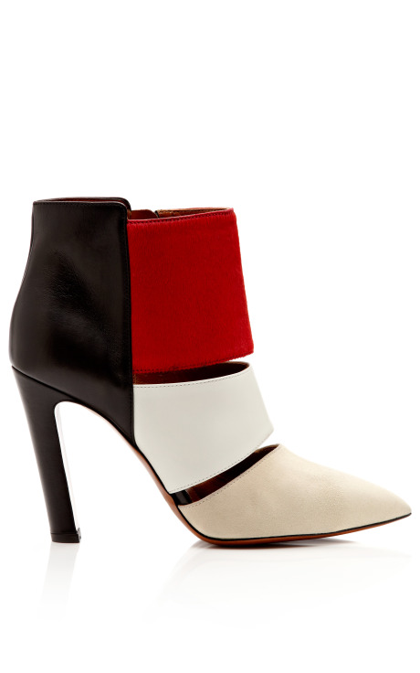 Nanette Suede Leather and Calf Hair Ankle Boots by Calvin Klein Collection Now Available on Moda Operandi