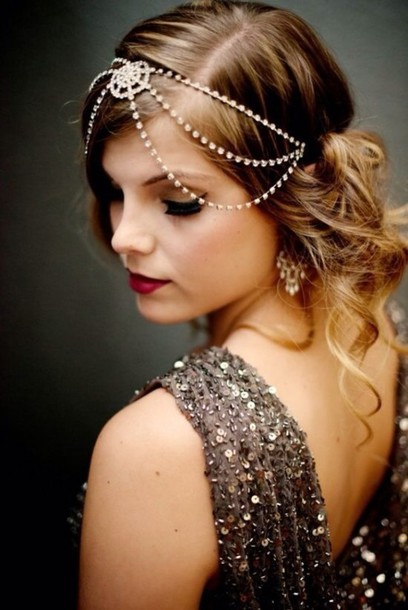 jewels headband diamonds the great gatsby headpiece hair accessory hair  chain hairstyles accessories 900ba24cf7a