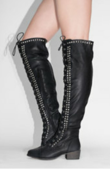 boots edgy neat high knees boots