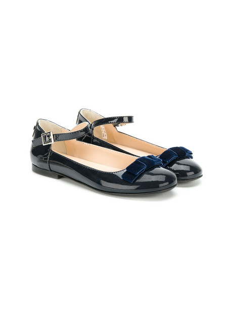 Armani Junior high leather blue shoes