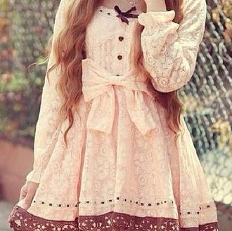 dress tan brown lace dress