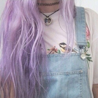 t-shirt pale grunge birds flowers flower prit hair lila hair alien overalls shirt-all pale grunge grunge t-shirt t-shirt with print