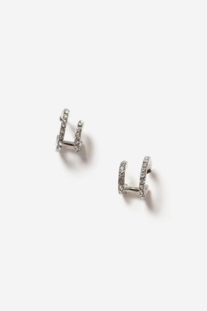 Topshop clear earrings hoop earrings jewels