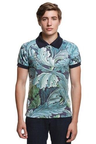 t-shirt polo shirt printed polo shirt all over print polo shirt full print polo shirt floral menswear mens t-shirt printed t-shirt