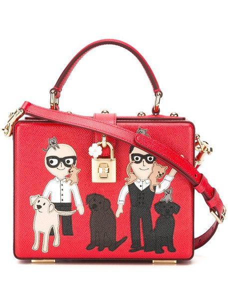 metal women leather red bag