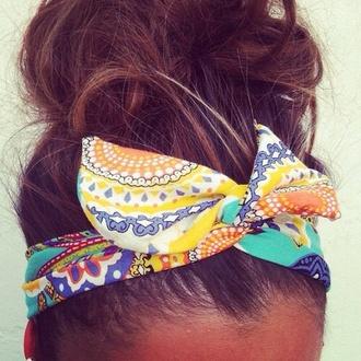 hat colorful accessoire hair yellow green hair accessory bandana hair band shoes