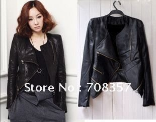 Black Leather Jacket Women Cheap