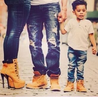 shoes high heels timberlands jeans kids fashion jacket lifestyle boots family cool sexy nice fashion vibe ripped jeans high heel timberlands timberland heels heels platform lace up boots timberland dope