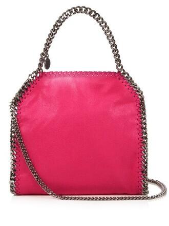 cross mini bag suede pink