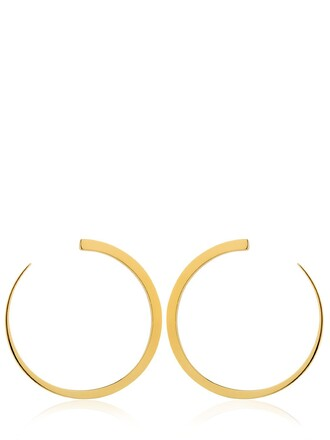 moon earrings gold jewels
