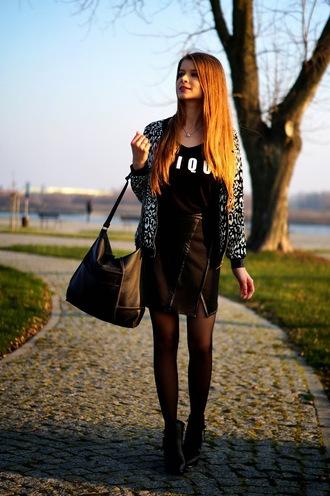 blogger bag only my fashion style skirt bomber jacket asymmetrical