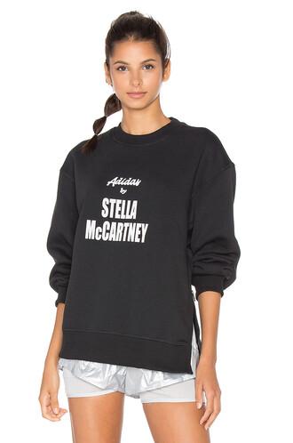 sweatshirt yoga white black sweater