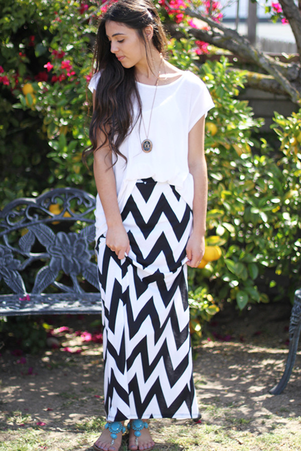 skirt chevron maxi skirt maxi skirt jewels