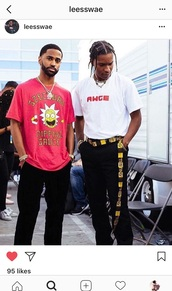 shirt,big sean,awge,rick and morty sweater,rick and morty,ASAP Rocky,instagram