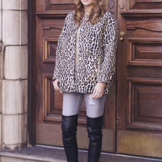 leopard print jewels jacket jeans top blogger at fashion forte ripped
