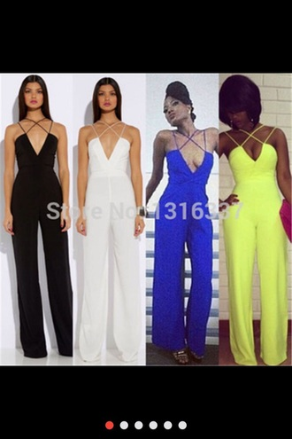 jumpsuit black white