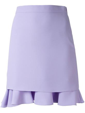 skirt ruffle women purple pink