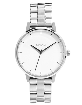 Nixon | Nixon Silver Kensington Watch at ASOS