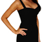 Crisscross strap bandage dress black