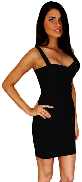 Crisscross Strap Bandage Dress Black
