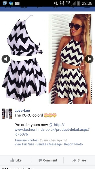 tank top black and white dress coords