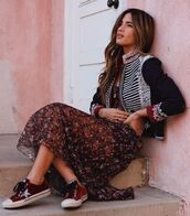 dress,jacket,sneakers,spring,spring outfits,rocky barnes,instagram,blogger,shoes