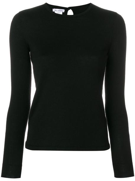 oscar de la renta jumper women black silk sweater